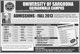 Sargodha University Admission 2021 Last date To Apply [Fee Structure]