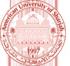 American University of Sharjah Logo (Top 10 Universities in UAE)