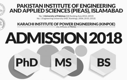 PIEAS Islamabad Online Admission 2021 for BS, MS And Engineering Programs