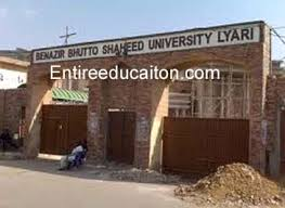 Benazir Bhutto Shaheed University Lyari Karachi Admissions