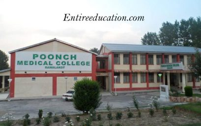 Poonch Medical College Admission 2021 Last date For MBBS, BDS, DPT