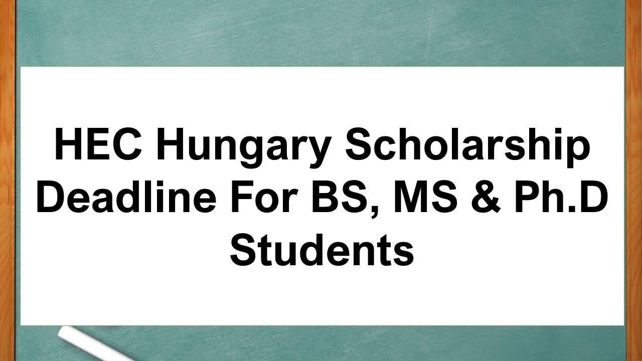 Doctoral Scholarships for Pakistani Students Undergraduate, Graduate, MPhil & Ph.D