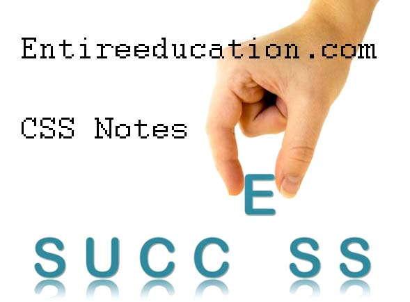 Get CSS Current Affairs Notes