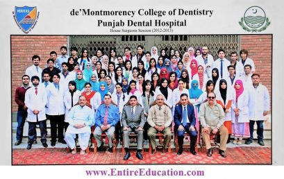 De'Montmorency College of Dentistry Lahore Admission 2019 Last Date