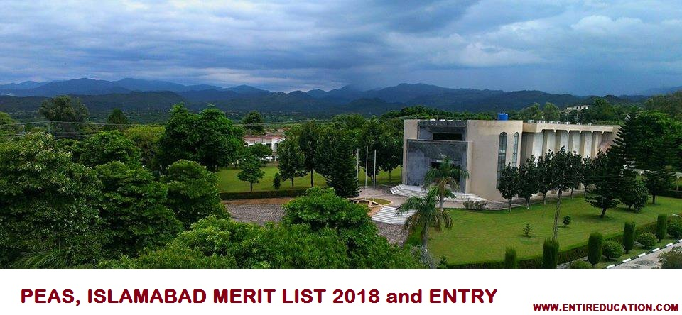 PIEAS University Merit List 2020 and Entry Test Results 2020