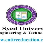 Sir Syed University Admission 2021 Last date (SSUET), Fee Structure