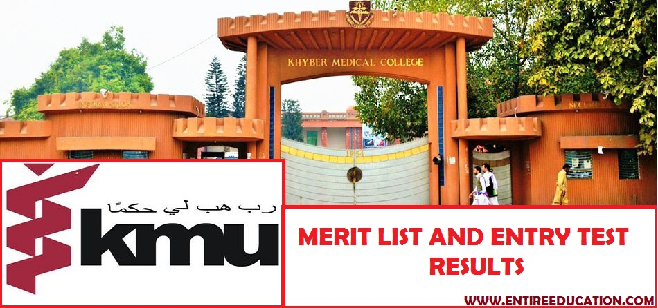 Khyber Medical University Merit List and Entry Test Results ... on gautam buddha university, kabul medical university, riphah international university, gandhara university, king edward medical university,