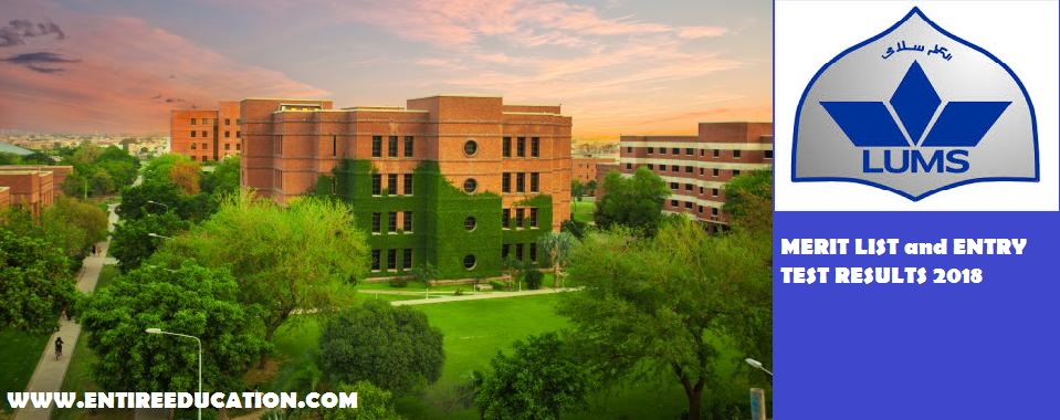 Lums University Merit List And Online Entry Test Results For Admissions 2020