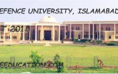 National Defence University Merit List 2020 and Entry Test Result (NDU)