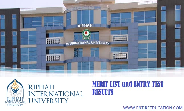 RIPHAH International University Lahore Merit List and Entry Test Results for spring Admissions 2020