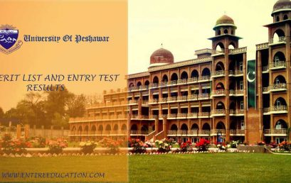 University Of Peshawar Merit List and Entry Test Results for Admissions 2020