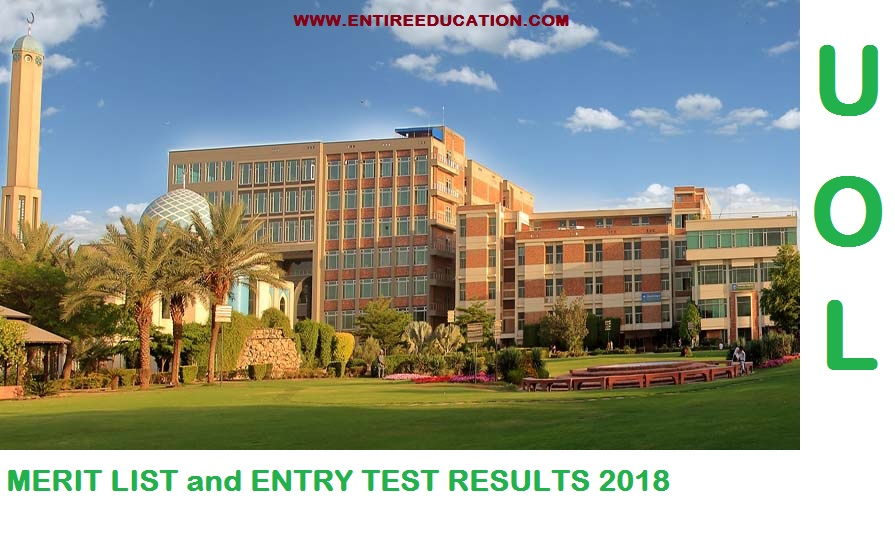 University Of Lahore Merit List 2020 and Entry test results 2020