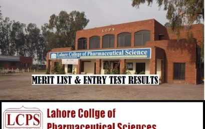Lahore College of Pharmaceutical Sciences Merit List and Entry Test Results for Admissions 2020