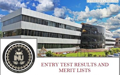 Iqra National University Merit list and Entry Test Results for Admissions 2020