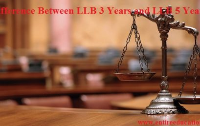 Difference Between LLB 3 years and LLB 5 Years
