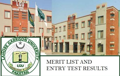Lahore Garrison University Merit List and Entry Test Result for Admissions 2020