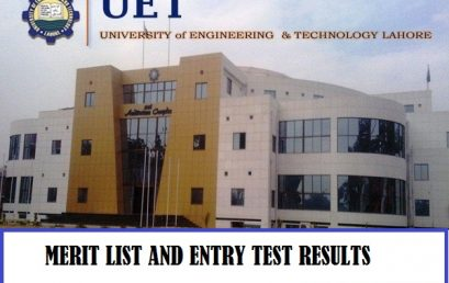 UET University of Engineering and Technology Lahore Merit list and Entry Test Results for Admissions 2020