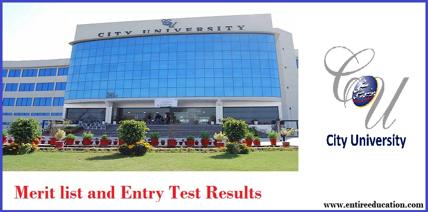 City University of Science and Technology CUSIT Merit List and Entry Test Results for admissions 2020