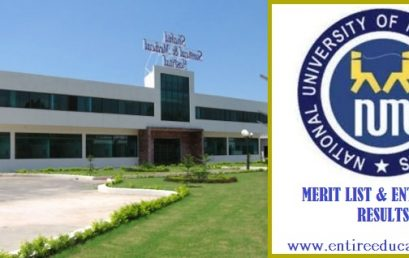NUML Hyderabad Merit List and Entry Test Results for admissions 2020