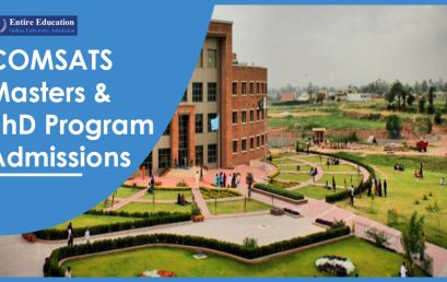 COMSATS University Masters and PhD Programs 2020 for Students