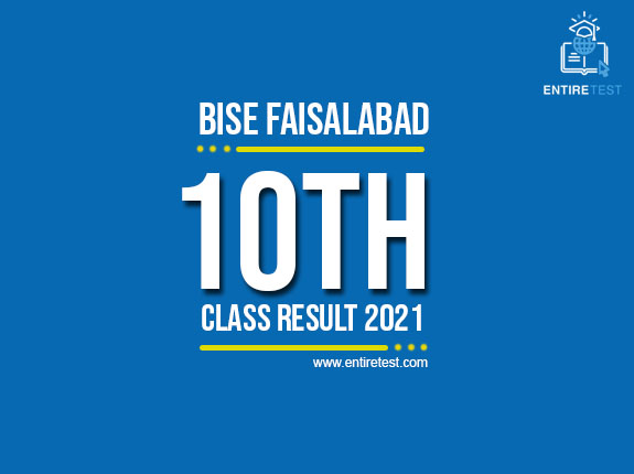 BISE Faisalabad 10th Class Result 2021 – Faisalabad Matric Result