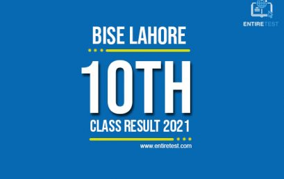 BISE Lahore 10th Class Result 2021 – Lahore Board Matric Result