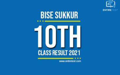 BISE Sukkur 10th Class Result 2021 – Sukkur Board Matric Result