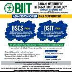 BARANI Institute of Information Technology Rawalpindi BIIT Merit List for Admissions 2021
