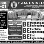 ISRA University Merit List and Entry Test Results for Admissions 2021