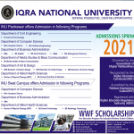 Iqra National University Merit list and Entry Test Results for Admissions 2021