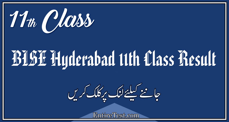 BISE Hyderabad 11th Class Result 2021 – FSC, ICOM, ICS, FA