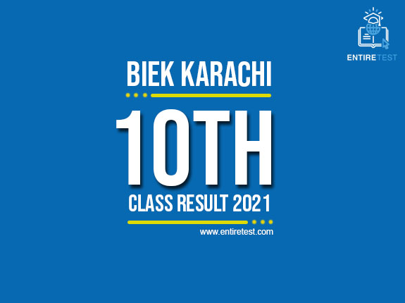 BIEK Karachi 10th Class Result 2021 – Karachi Board Matric Result