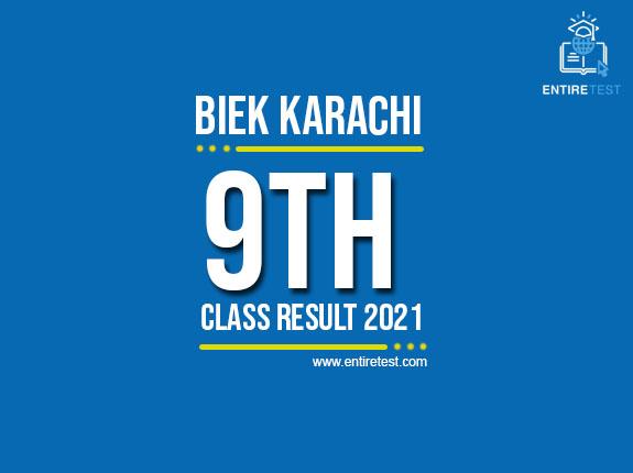 BIEK Karachi 9th Class Result 2021 – SSC Part 1 Result – Check Online