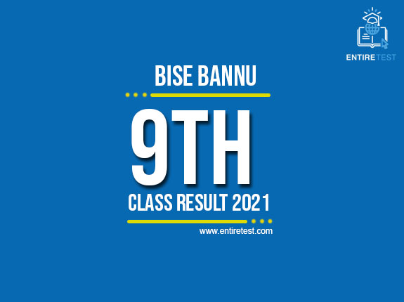 BISE Bannu 9th Class Result 2021 – SSC Part 1 Result – Check Online