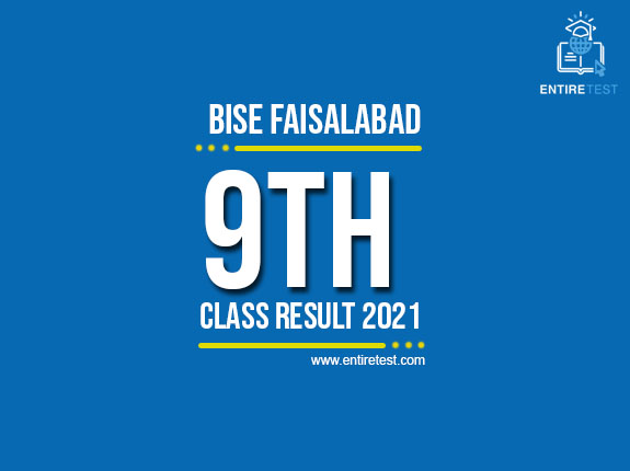BISE Faisalabad 9th Class Result 2021 – SSC Part 1 Result – Check Online
