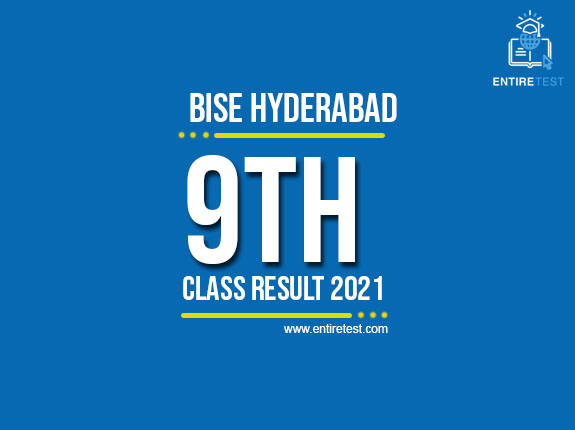 BISE Hyderabad 9th Class Result 2021 – SSC Part 1 Result – Check Online