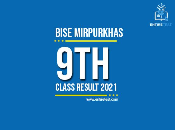 BISE Mirpurkhas 9th Class Result 2021 – SSC Part 1 Result – Check Online