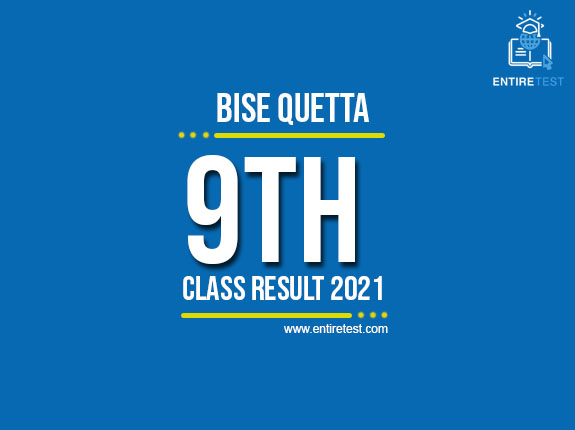 BISE Quetta 9th Class Result 2021 – SSC Part 1 Result  – Check Online