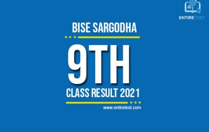 BISE Sargodha 9th Class Result 2021 – SSC Part 1 Result – Check Online