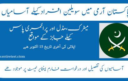 Pakistan Army Head Quarter LOG 4 CORPS latest Jobs 2021