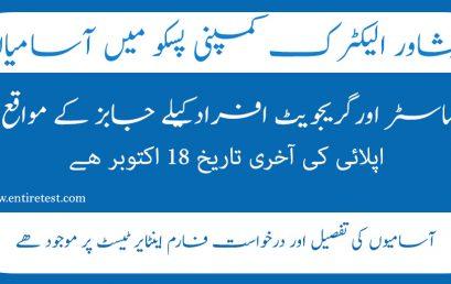 Peshawar Electric Supply Company PESCO JOBS 2021 Last date
