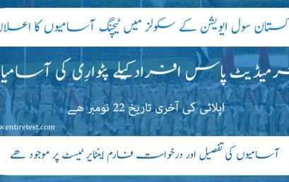 Pakistan Civil Aviation Authority CAA Patwari Jobs 2021
